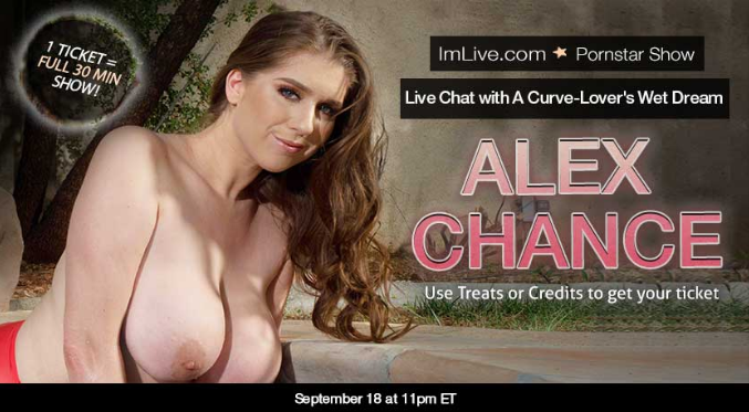 Sex chat with porn star Alex Chance live on webcam at NastyChat.com